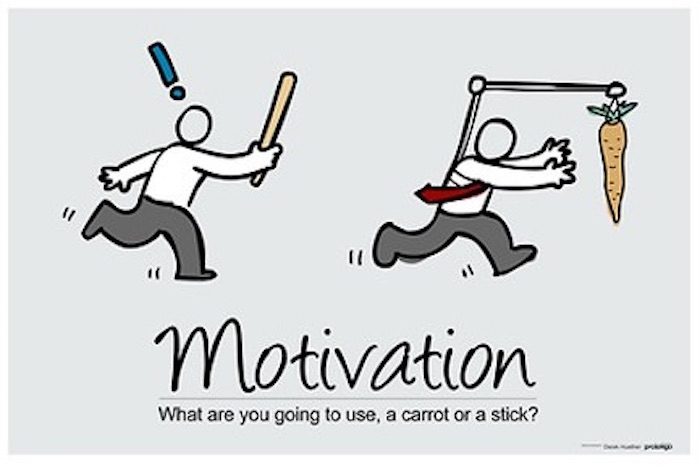 the carrot and stick approach to motivation The carrot and stick approach to motivation if you have been working or have ever worked, you would have come across the term, 'the carrot and stick policy' this is a well-known technique in management and corporate circles that uses a mix of reward and punishment to achieve.