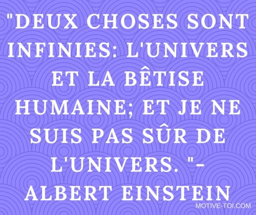 Citation d' Albert Einstein