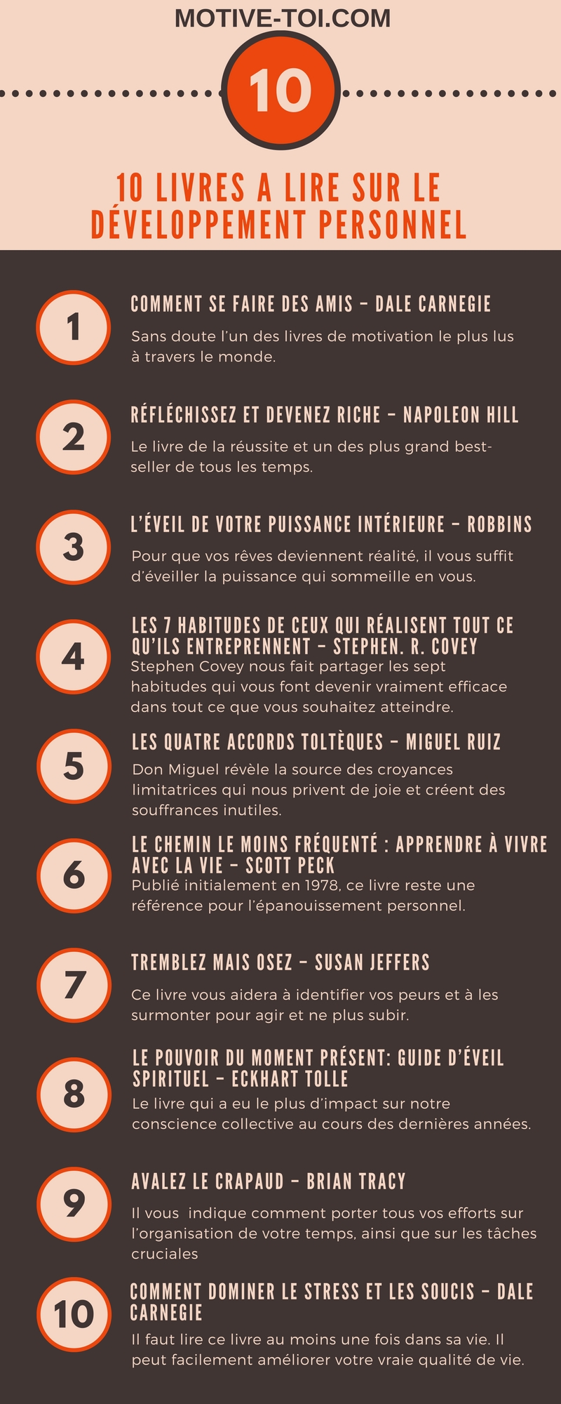 infographie 10 livres a lire sur le d veloppement personnel. Black Bedroom Furniture Sets. Home Design Ideas
