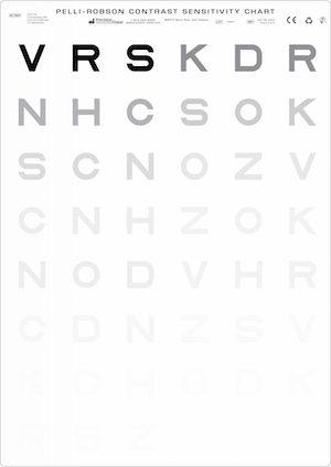 pelli-robson test de sensibilité